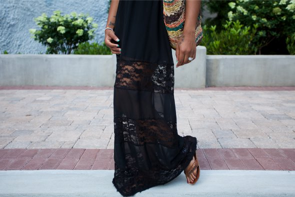 black dress, sheer black, sheer dress,