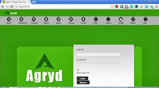 Agryd login page