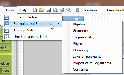 Microsoft Math features