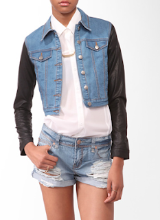 Forever21 Coasted Sleeve Denim Jacket