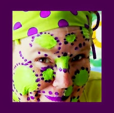 Purple polka dots!  Woo-hoo