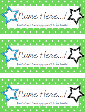 Clark 39 s corner upper elementary name tags for How to use table tag in html