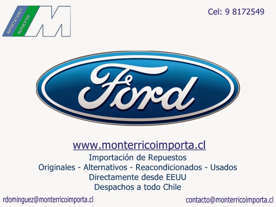 Repuestos Ford Chile y Multimarca Originales Alternativos Reacondicionados Despachos A Todo Chile