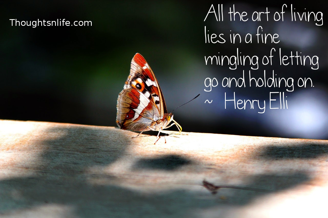Thoughtsnlife.com: All the art of living lies in a fine mingling of letting go and holding on. ~   Henry Elli