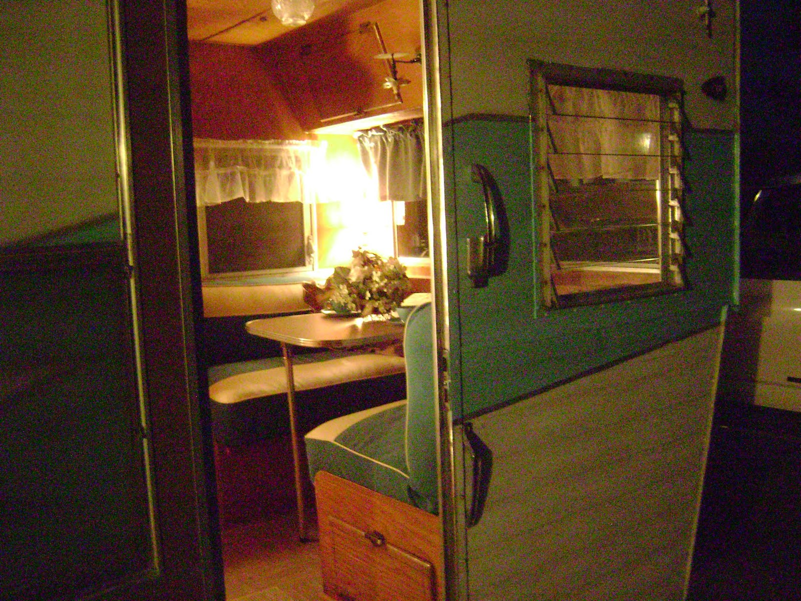 1960 Canned Ham Travel Trailer Interior