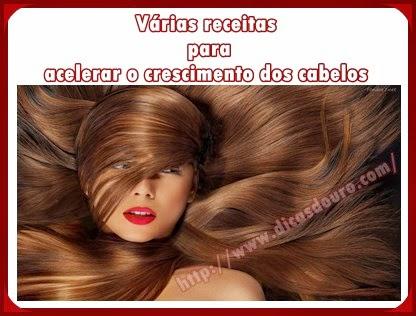 Várias receitas para acelerar o crescimento dos cabelos