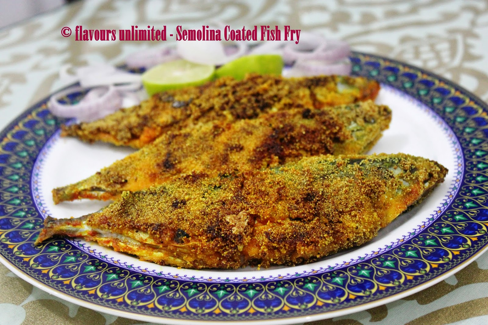 ... Style Rava/Semolina Coated Bangda/Mackerel and Surmai/King Fish Fry