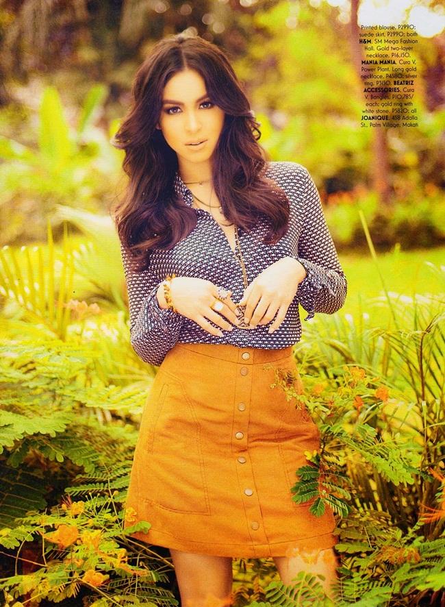 H&M 2015 SS Button Front A-Line Skirt Editorials