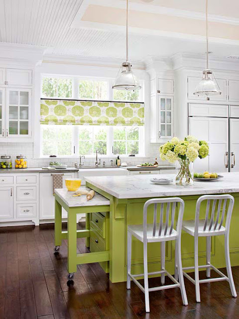 Decorating Kitchen Ideas Extraordinary With Yellow White Kitchen with Island Photo