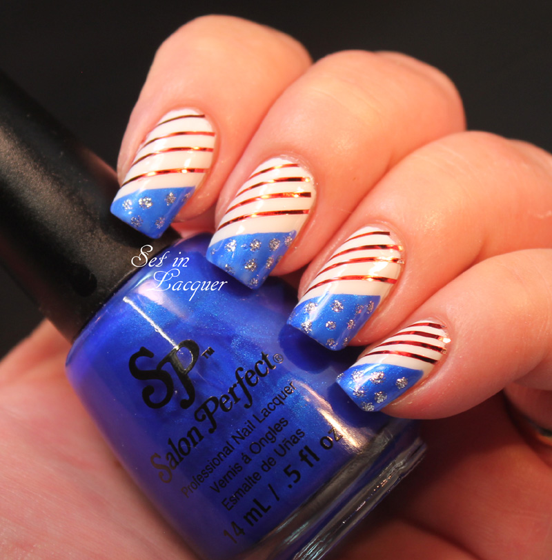 Salon Perfect July 4th nail art