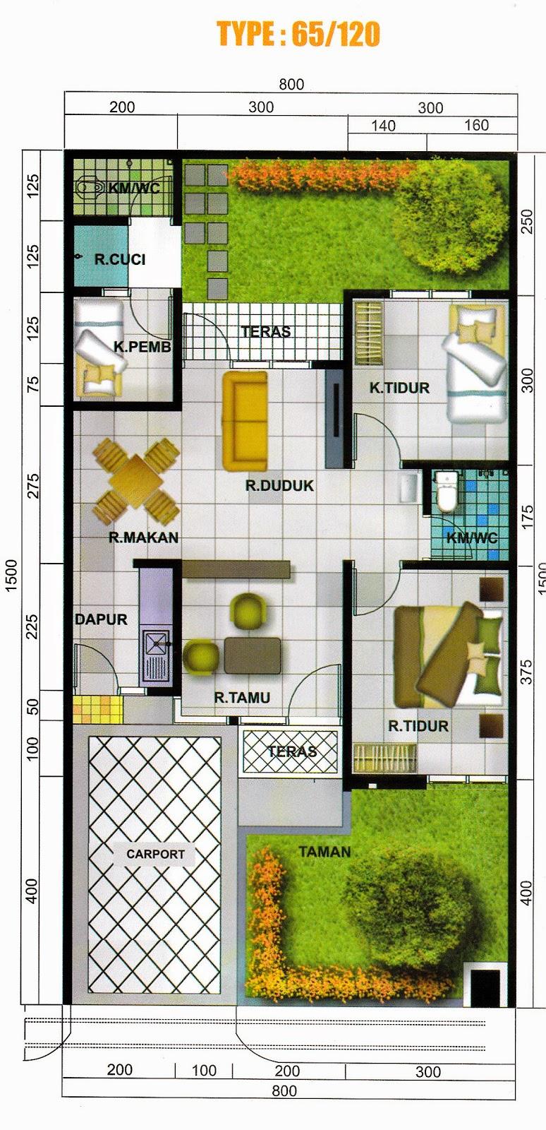 type dan layout rumah perumahan bellacasa