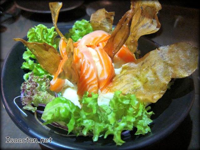 Salmon Potato Salad with Truffle Oil - RM18