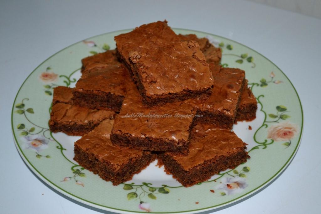 Brownies au chocolat et vanille