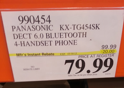 Deal for the Panasonic KX-TG454 Bluetooth Handset Phones at Costco