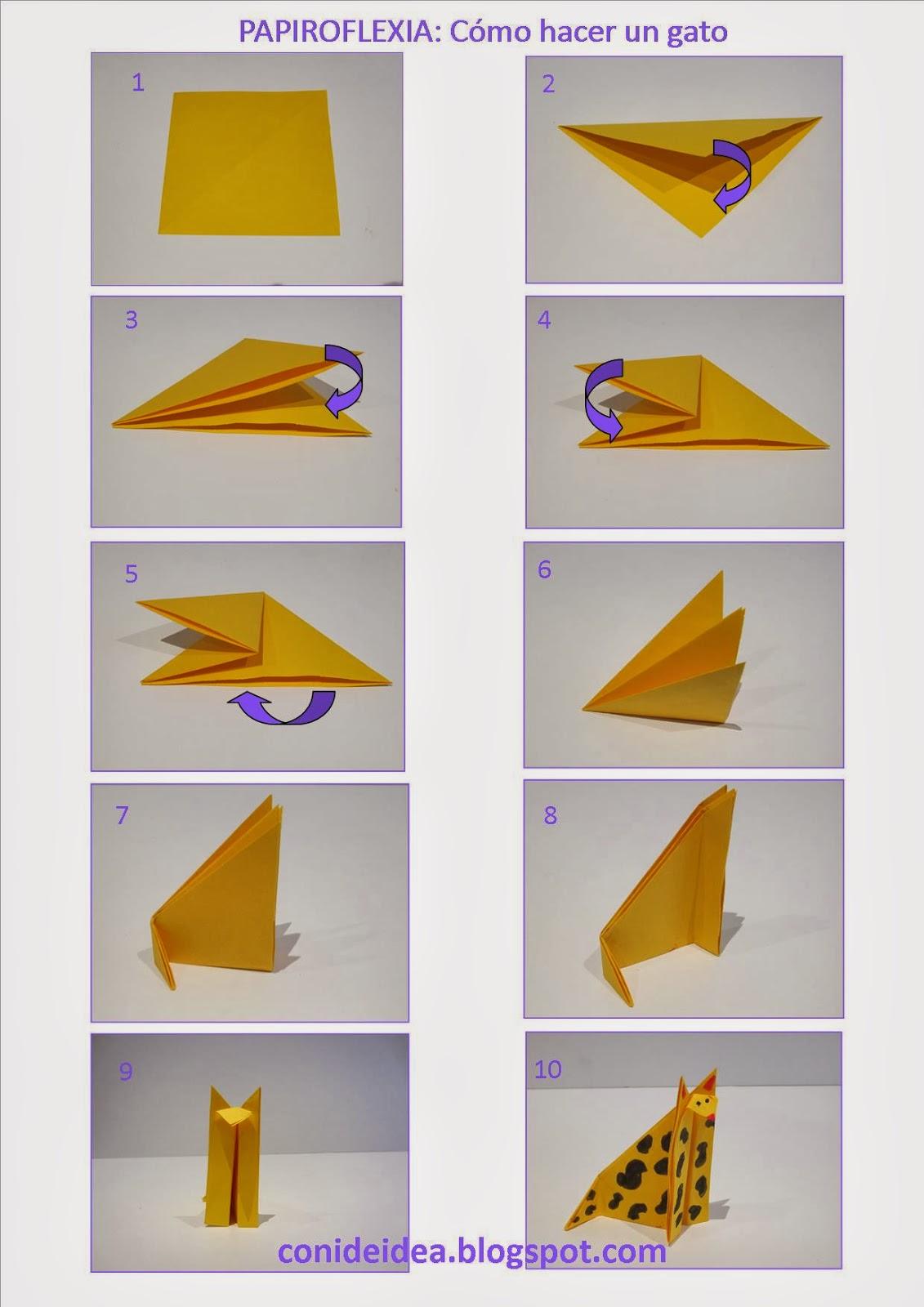 Manualidades con i de idea c mo hacer un gato de papel - Como hacer un estor enrollable paso a paso ...