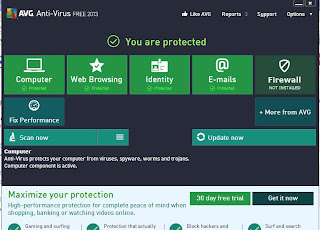 Antivirus AVG Free Edition 2013