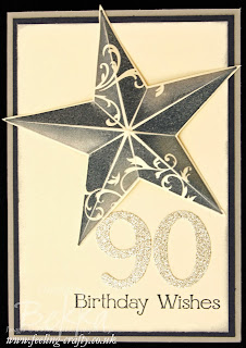3D Birthday Star Card by UK based Stampin' Up! Demonstrator Bekka Prideaux - get this gorgeous stamp and lots of other ideas here