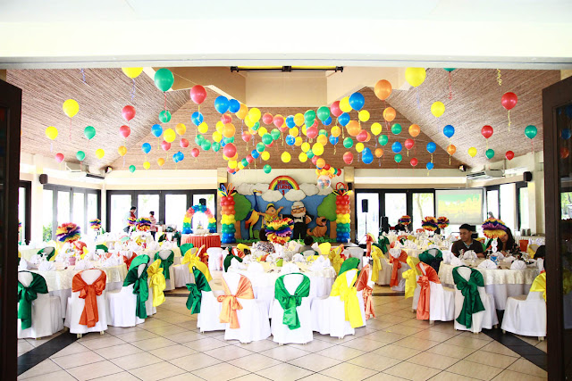 Kids party hub for 1st birthday hall decoration