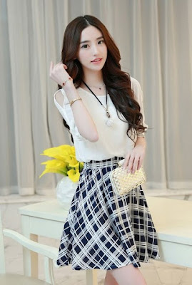 Model Baju dress korea cantik