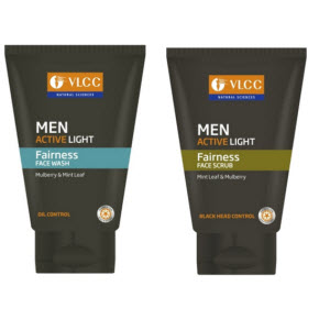 Buy VLCC Men Active Light Face Wash 100 ml Price Drop Rs. 63 Only.
