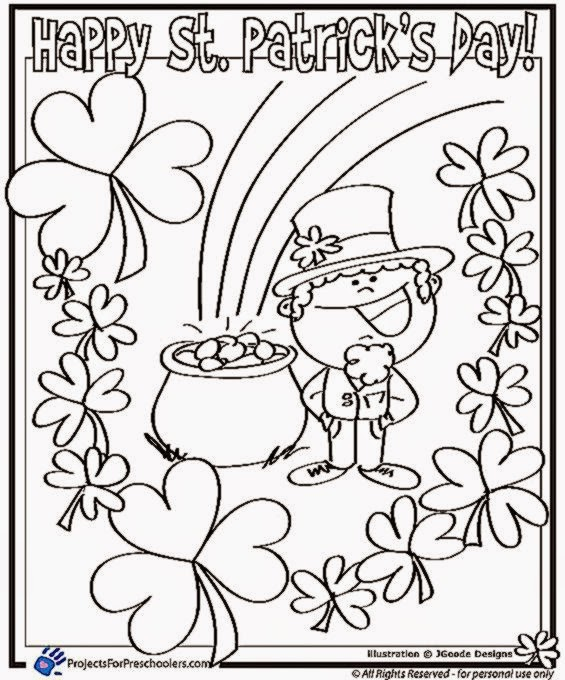 Stunning St Patrick Day Coloring Pages Images New Printable