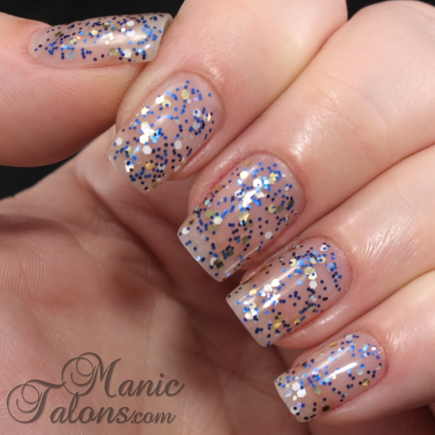 IBD Just Gel Polish Haute Frost Collection Sapphire and Ice Swatch