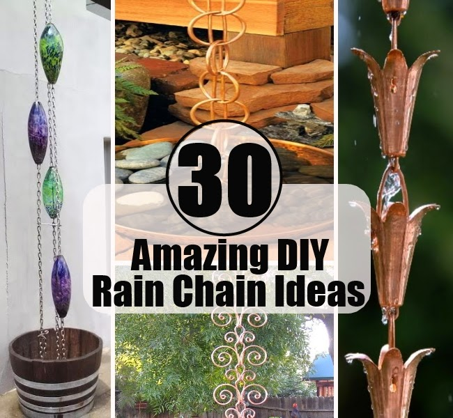 30 Amazing DIY Rain Chain Ideas