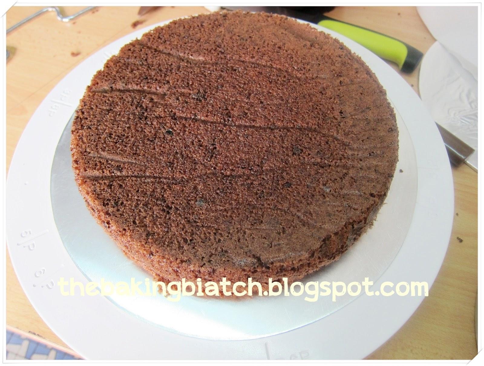 The Baking Biatch ♥: Time with Cynthia: Chocolate Sponge Cake