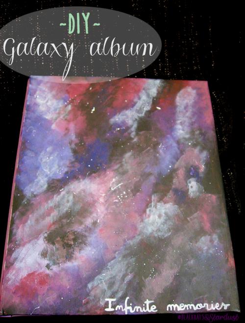 galaxy print photo album cover DIY paint