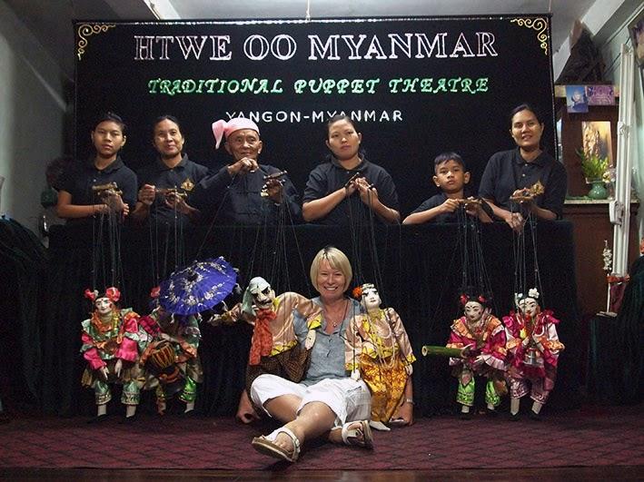 Htwe Oo Myanmar traditional puppet theatre