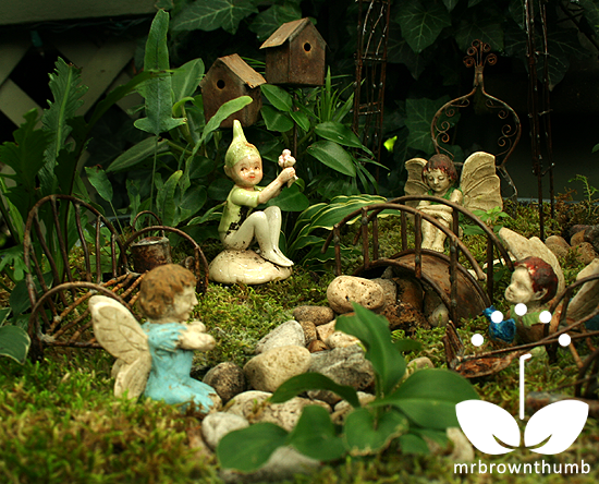 Fairy Gardening Is Bringing Miniature Plants Back: small garden fairies