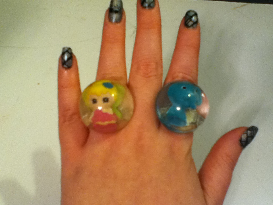 Resin Jewelry : Bubble Gum Machine Rings