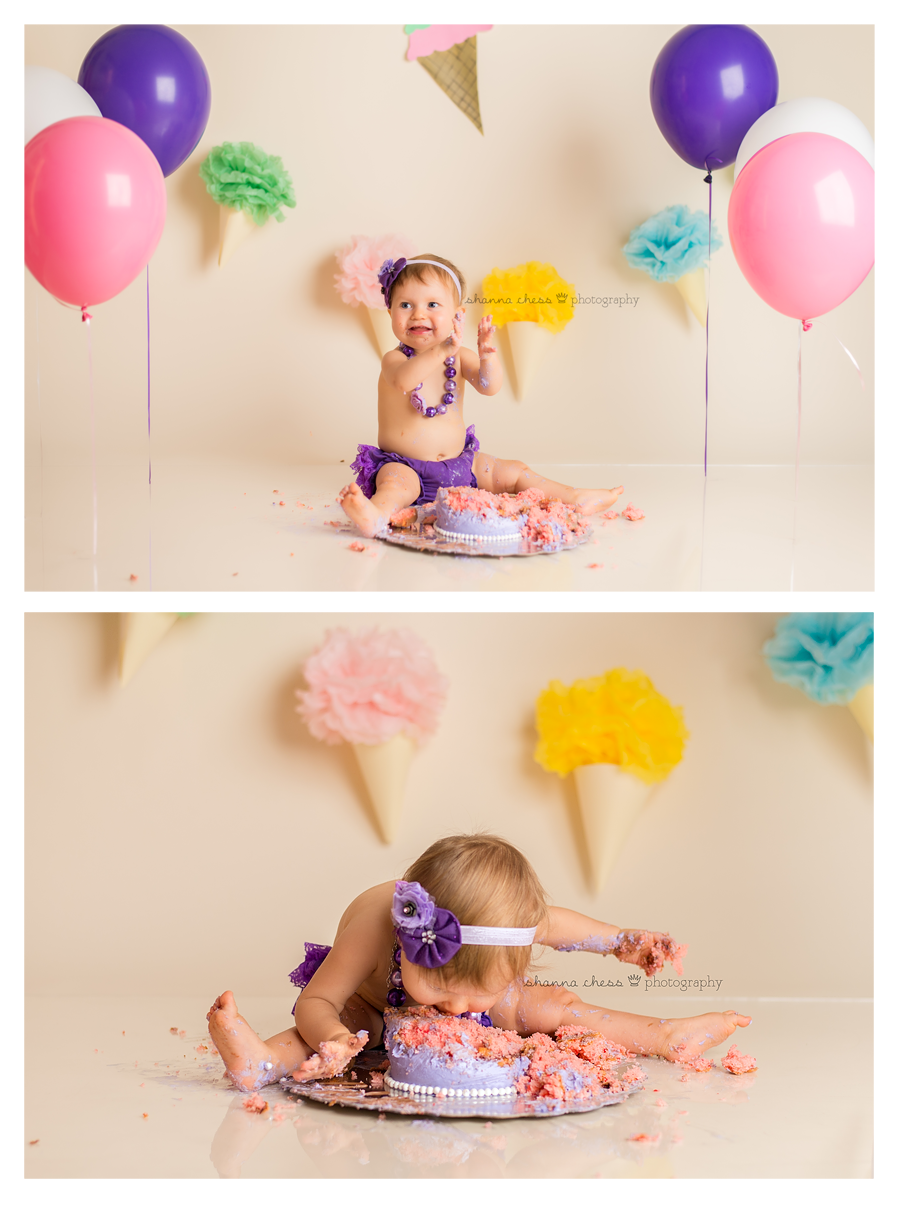 eugene springfield or baby photography cake smash