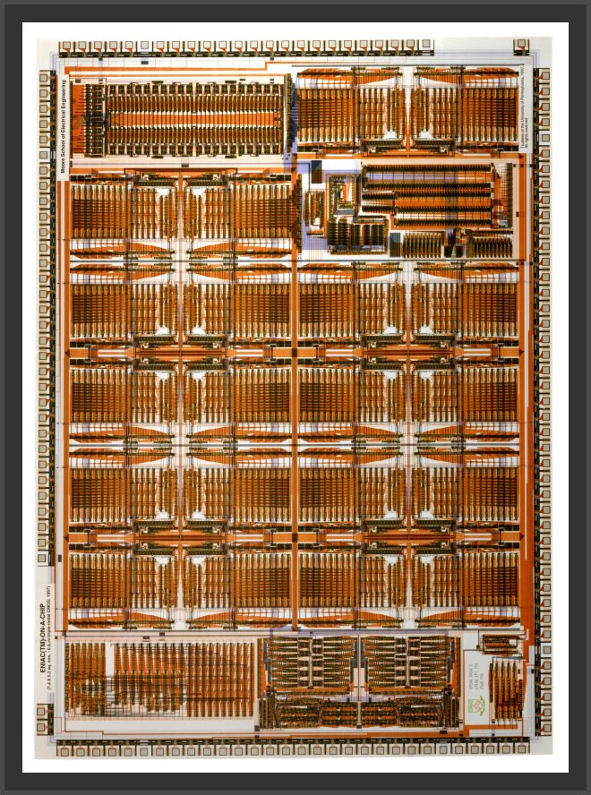 ENIAC-on-a-Chip photo courtesy of Professor J. Van der Spiegel, University of Pennsylvania (c) 1997