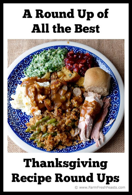 A compilation or Thanksgiving recipe round ups from bloggers. Hundreds of recipes for decor, planning, special diets, special appliances, appetizers through desserts. Your one stop Thanksgiving spot!