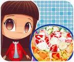 Làm salad trái cây, game ban gai