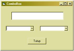 Cara membuat ComboBox (VB 6.0)