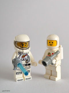 lego spaceman - now and then