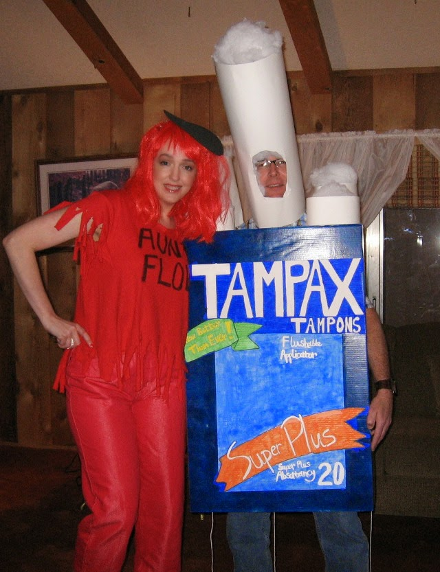 Tampons and Flow Couples Halloween Costume