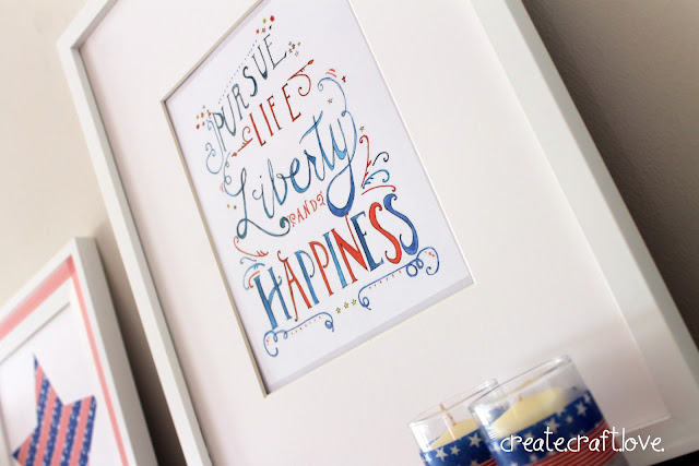 Fourth of July Mantel via createcraftlove.com #fourthofjuly #mantel