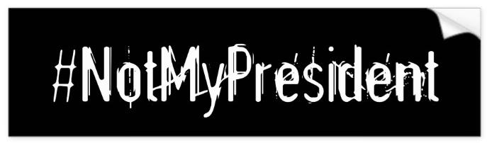 #NotMyPresident Bumper Sticker