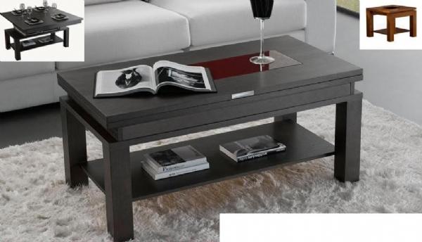 Muebles para espacios reducidos mesa extensible y - Mesa centro elevable y extensible comedor ...
