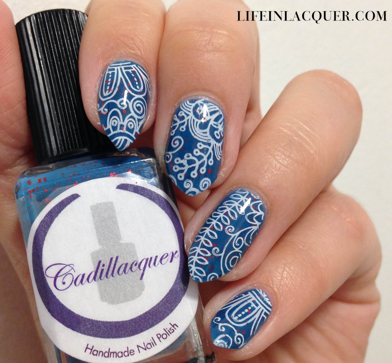 Stamping Nail Art using Cadillacquer Seek the Fire