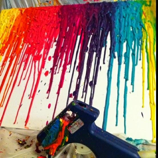 DIY, decora tus paredes, crayones