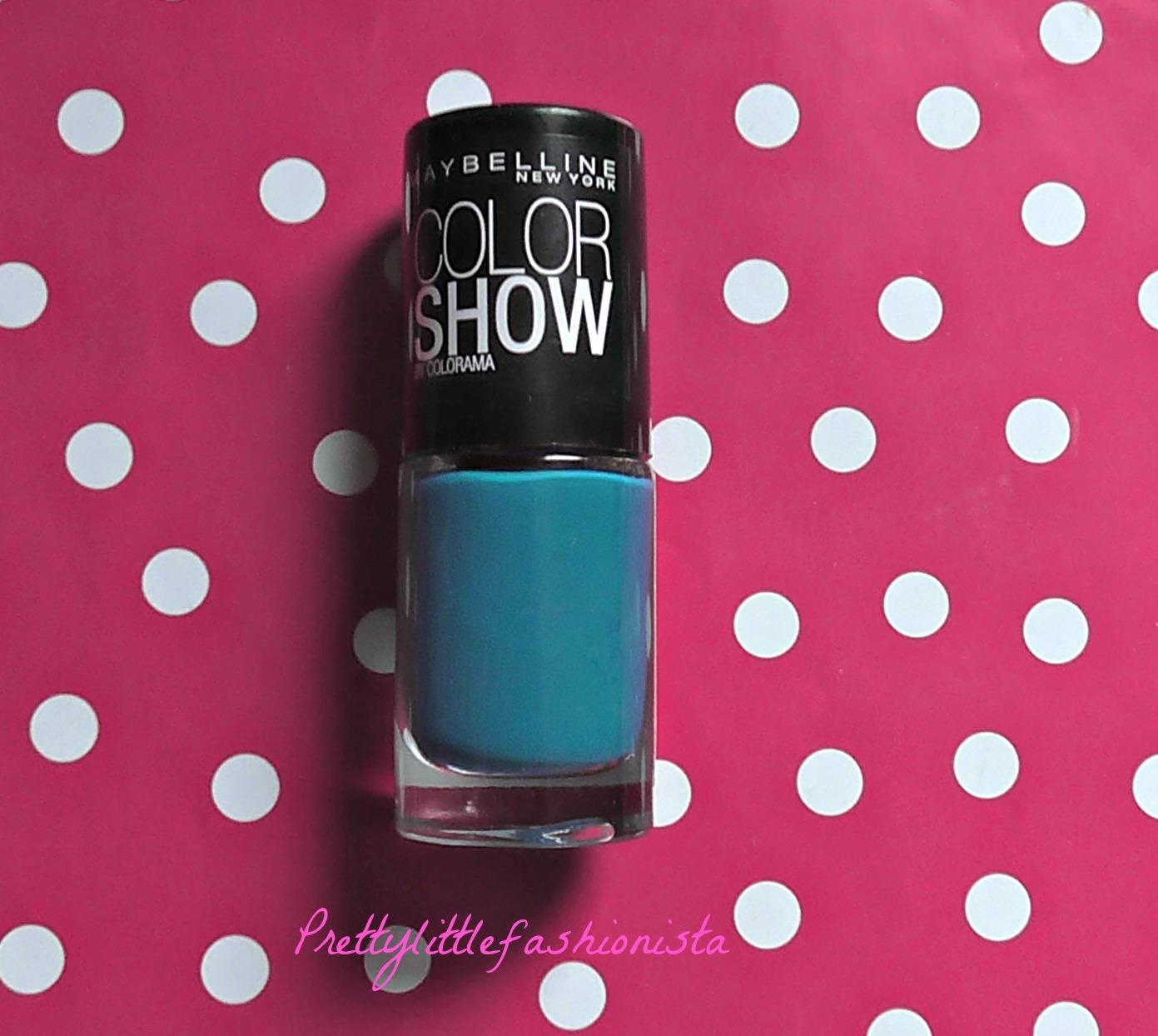 NOTD: Maybelline Superpower Blue