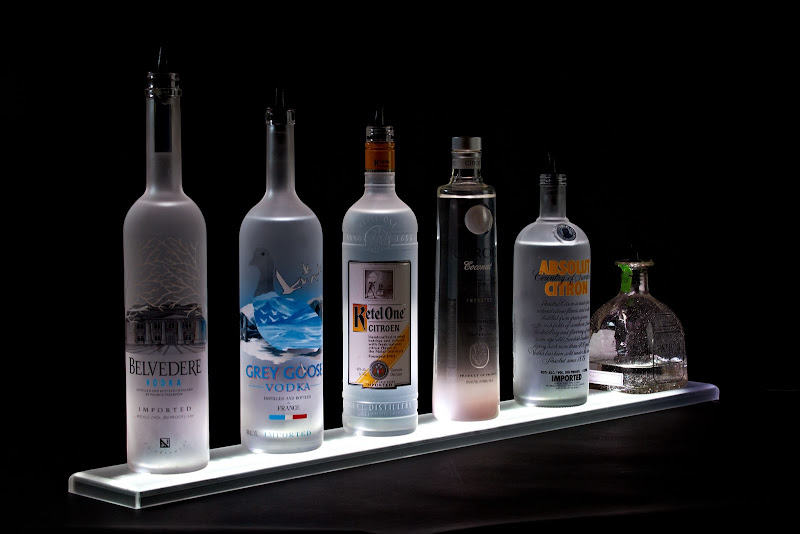 LED Lighted Liquor Bottle Display Shelf