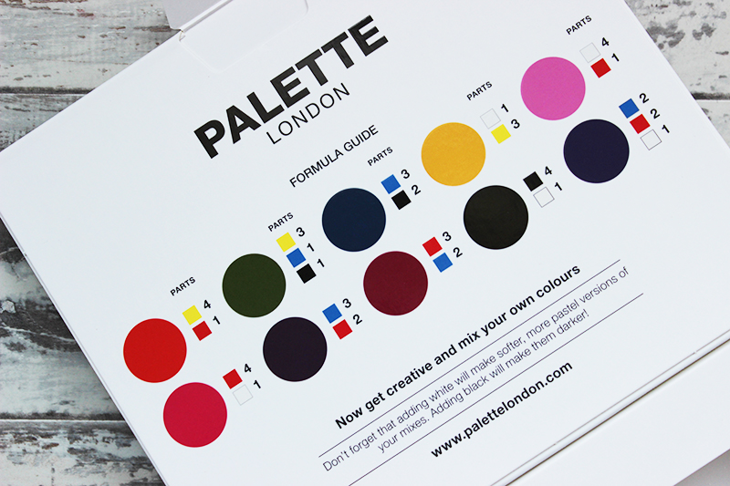 Palette London Create your own nail polish kit mixing shades
