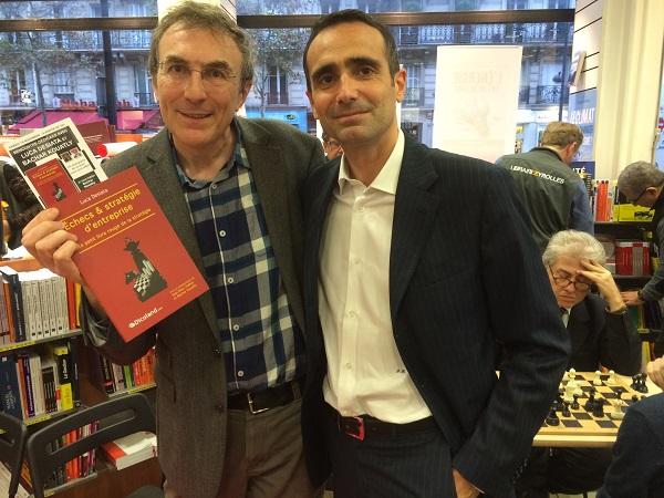 Philippe Dornbusch en compagnie du Directeur général d'Enel France et Belgique, Luca Desiata - Photo © Chess & Strategy