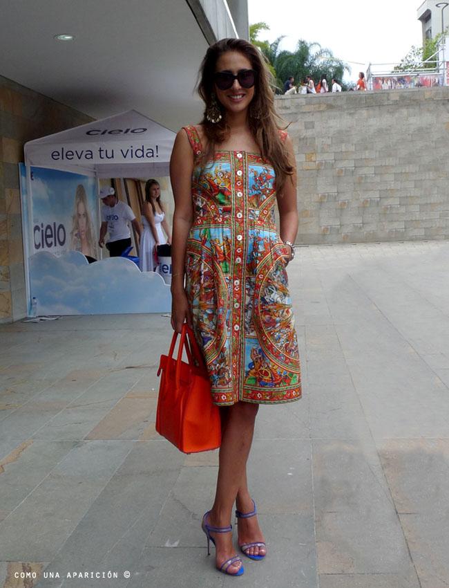 street-style-clo-clo-echavarría-colombiamoda-sunglasses-dolce-&-gabbana-spring-2013-dress-celine-orange-bag-como-una-aparición