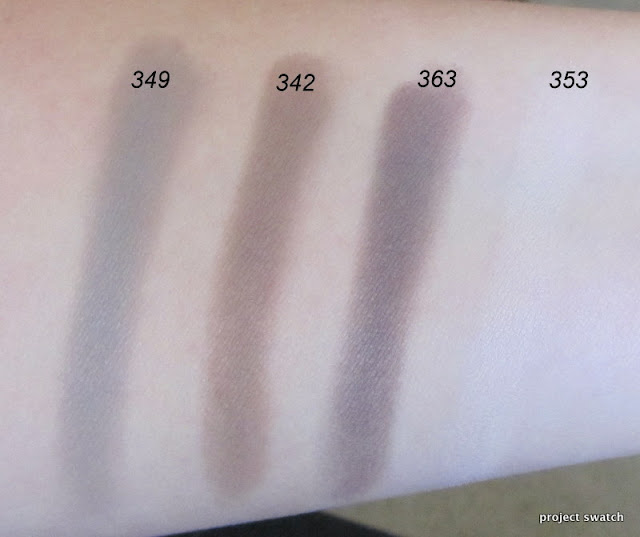 Inglot Matte Neutral Eyeshadows - 349, 342, 363, 353